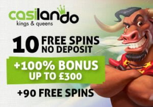 Casilando 10 free spins no deposit